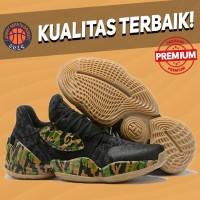 Sepatu Basket Sneakers Adidas Harden 4 Camo Black Pria Wanita Hitam