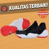 Sepatu Basket Sneakers Adidas Harden 4 Black White Red Pria Wanita