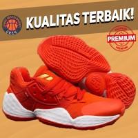 Sepatu Basket Sneakers Adidas Harden 4 Red White Pria Wanita