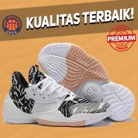 Sepatu Basket Sneakers Adidas Harden 4 White Black Gum Pria Wanita