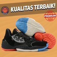 Sepatu Basket Sneakers Adidas Harden 4 Black Red Blue White Pria