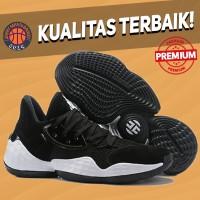 Sepatu Basket Sneakers Adidas Harden 4 Black White Pria Wanita
