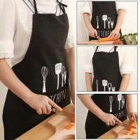 Baju Masak Kekinia Celemek Apron Dapur Cafe Pelindung Baju Saat Masak