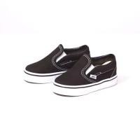 Sepatu anak vans slip on hitam putih sepatu anak sekolah