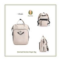 Colorland Steriliser Diaper Bag | Tas Popok Bayi Anak - light khaki