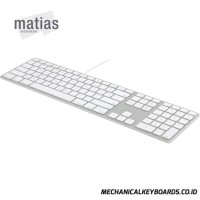 Matias Wired Aluminum Keyboard for Mac / Apple (Silver) #FK318S