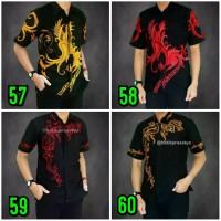 TERKENAL MURAH / Kemeja Hem Batik Baju Pria Koko Kombinasi Seragam 087