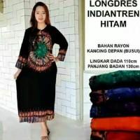 daster gamis muslim baju tidur dewasa longdress batik kencana ungu
