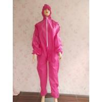 APD Baju Hazmat Standart WHO Warna Pink 75 GSM