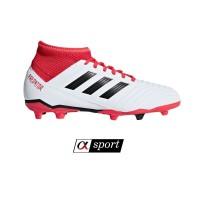 Sepatu Bola Adidas Predator 18.3 FG - White/Red [ORIGINAL]