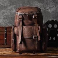 OMAHA - Vintage Leather Backpack Travel / MARD Creations