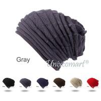 Beanie Horizontal Line Topi Kupluk Dewasa Knitted Hat Bahan Rajut