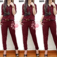 jumpsuit XL lolita maroon baju remaja wanita terbaru murah lol gm