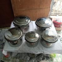 Panci Stainless Steel 2 telinga pegangan Set 5 cap 555 Shanghai