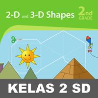 2D 3D Shapes Buku Keterampilan Aktivitas Kelas 2 SD Mengenal Bentuk