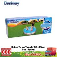 Bestway Kolam Renang 152 cm x 25 cm Anak Tanpa Tiup /Kolam Tanpa Pompa