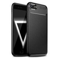 Carbon II TPU Case iPhone SE 2020 - 7 - 8 - Casing Black Soft Armor