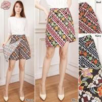 SB Collection Celana Pendek Rvi Hotpants Rok Batik Casual Jumbo Wanita