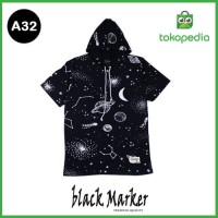 Baju Kaos hoodie - Hodie Kupluk - Premium Motif abstrak galaxy