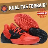 Sepatu Basket Sneakers Adidas Harden 4 Bred Black Red Pria Wanita