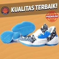 Sepatu Basket Sneakers Adidas Harden 4 White Blue Black Pria Wanita