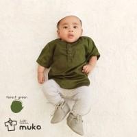 Baju Koko Anak / Baju Muslim Anak / Koko Bayi / Bayi Laki - HIJAU TUA