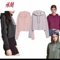 Hoodie Crop Jaket Sweater HM H&M Branded ORIGINAL MURAH Crop Top