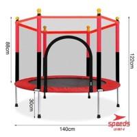"Speeds Mini Trampoline55"" inch / Mainan Trampolin Anak & Dewasa Jari - Merah"