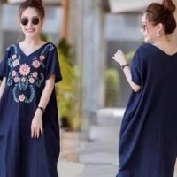 SALE - baju DRESS jumbo wanita PELITA