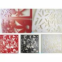 dekorasi penyekat ruangan 3D vintage bahan plastik lentur