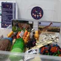 Wild Animal Box Play Set sensory kit mainan edukasi playdough
