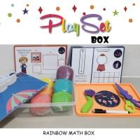 Mainan playset montessori edukasi angka number bentuk shape playdough