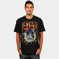 Baju Kaos Retro Star Wars Comic T-Shirt