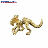 TM 1Pc Anting Tusuk Bentuk Dinosaurus Warna Emas / Silver untuk Pria