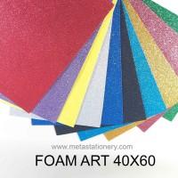 Kertas Busa Manik / Foam Art Glitter Bazic 40x60 - Black