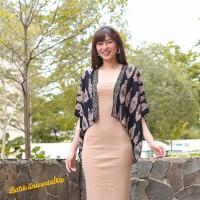 Outer Batik Wanita Modern. Bolero Crop Cardigan - Lampion