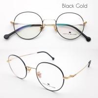 original frame kacamata Bulat Castle builder free lensa radiasi EMI - Hitam GOLD