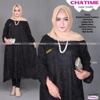 Baju Atasan Kebaya Tunik Brukat Jumbo Modern Wanita Terbaru Chatime