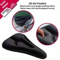 Sarung Jok Sadel Sepeda Cover Saddle 3D Gel Pad Hitam