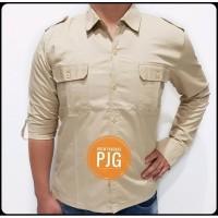 Baju Kemeja Seragam PDL PDH Lengan Panjang Bahan Drill Premium