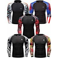 Rash Guard Murah MMA BJJ Surfing Swimming COmpression Shirt Fitness