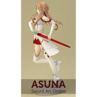 DIY Papercraft Pola figure Sword Art Online Asuna
