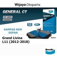 Kampas Rem Depan Brake Pad Grand Livina L11 Bendix