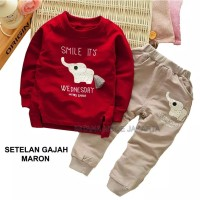 Baju Anak / Gajah Stelan Anak Laki 2-4 Thn
