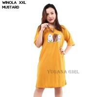 Daster Kaos Wanita Lengan Pendek Baju Rumah Cewek WINOLA