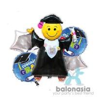 Balonasia Balon Graduation / Wisuda Set