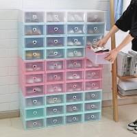 Kotak sepatu SLIDE - LACI 31X20X12 Transparan tempat sepatu