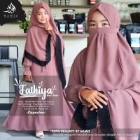 Baju Gamis Anak Set Hijab Cadar Fathiya Syari Teen Original Hamiz