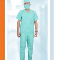 baju seragam setelan oka / stelan oka pendek / seragam perawat lengkap - S