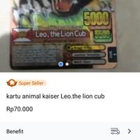 kartu animal kaiser leo .the lion cub ver 4